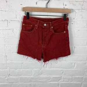 Levi's Cutoff Jean Shorts High Rise Red Size 25